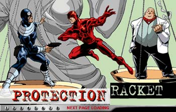 Splash page for Protection Racket