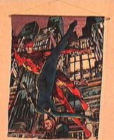 Daredevil felt wall hanging