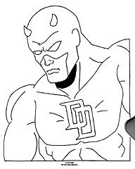 D are colouring pages for Daredevil coloring pages